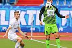 Utkání 25. kola první fotbalové ligy: FC Baník Ostrava - FK Mladá Boleslav, 16. března 2019 v Ostravě. Na snímku (zleva) Kuzmanovič Nemanja, Tomáš Ladra.