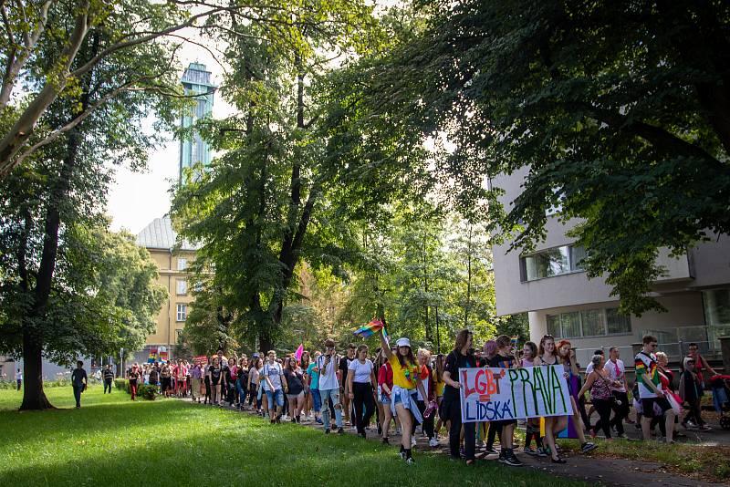 Duhový pochod Pride 2019 v Ostravě.