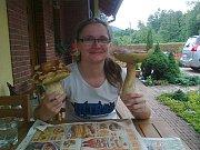Veronika Josieková hříbky našla v obci Morávka v Beskydech. Jak dodala byly zdravé a na másle velice chutné.