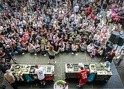 """Radek Kašpárek """"vystoupil"""" také na Garden Food Festival v Dolní oblasti Vítkovice v květnu 2018 v dresu Baníku."""