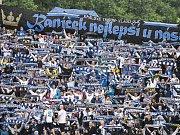 Rozlučka s Bazaly. Snímek z posledního ligového zápasu Baníku na Slezské 30. května 2015.