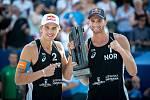 FIVB Světové série v plážovém volejbalu J&T Banka Ostrava Beach Open, 2. června 2019 v Ostravě. Finále muži, (1) Anders Berntsen Mol, (2) Christian Sandlie Sorum.