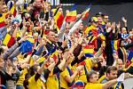 1. kolo tenisového Fed Cupu: Česká Republika - Rumunsko, 10. února 2019 v Ostravě. Na snímku fanoušci rumunska.