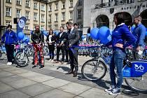 Sdílená jízdní kola Nextbike, 15. dubna 2019 v Ostravě.