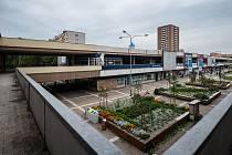 Rekonstrukce obchodního centra v Hrabůvce, snímky z 5. zaří 2017 v Ostravě.