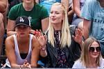 FIVB Světové série v plážovém volejbalu J&T Banka Ostrava Beach Open, 1. června 2019 v Ostravě. Na snímku (vlevo) Klára Faltínová, (uprostřed) Michaela Nečasová (TJ Ostrava).