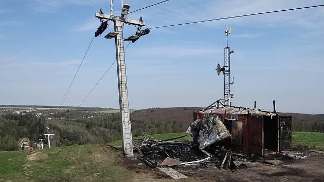 Škodu v řádech statisíců korun způsobil požár, který v noci na čtvrtek vypukl v lyžařském areálu Vaňkův kopec v Horní Lhotě na Ostravsku.