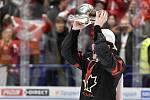 Mistrovství světa hokejistů do 20 let, finále: Rusko - Kanada, 5. ledna 2020 v Ostravě. Na snímku radost hráče Alexis Lafreniere.