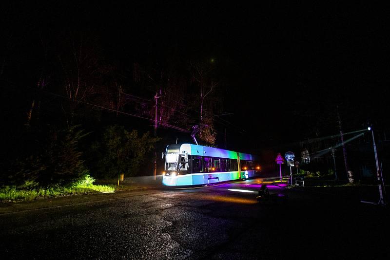 Slavnostní představení první velkokapacitní tramvaje Škoda Forcity Smart 39T vyrobené na míru pro Ostravu, 6. října 2021 v Ostravě.