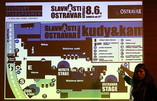 Organizátoři Slavností pivovaru Ostravar na tiskové besedě informovali ofinišujících přípravách na sobotní akci.