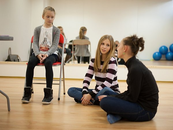 Představitelky hlavních rolí Kristýnka Jankulovská, Tereza Ištuková a Barbora Travinská se už moc těší na své první vystoupení.