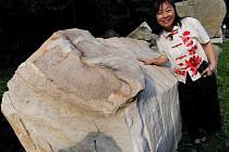 K umělcům, kteří přijeli pod Landek na Mezinárodní sochařské bienále – sympozium Landek 010, patří také čínská sochařka Zhao Lí.