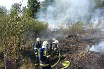 Požár lesa mezi Ostravou a Krmelínem