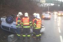 Dopravní nehoda v Ostravě-Zábřehu.