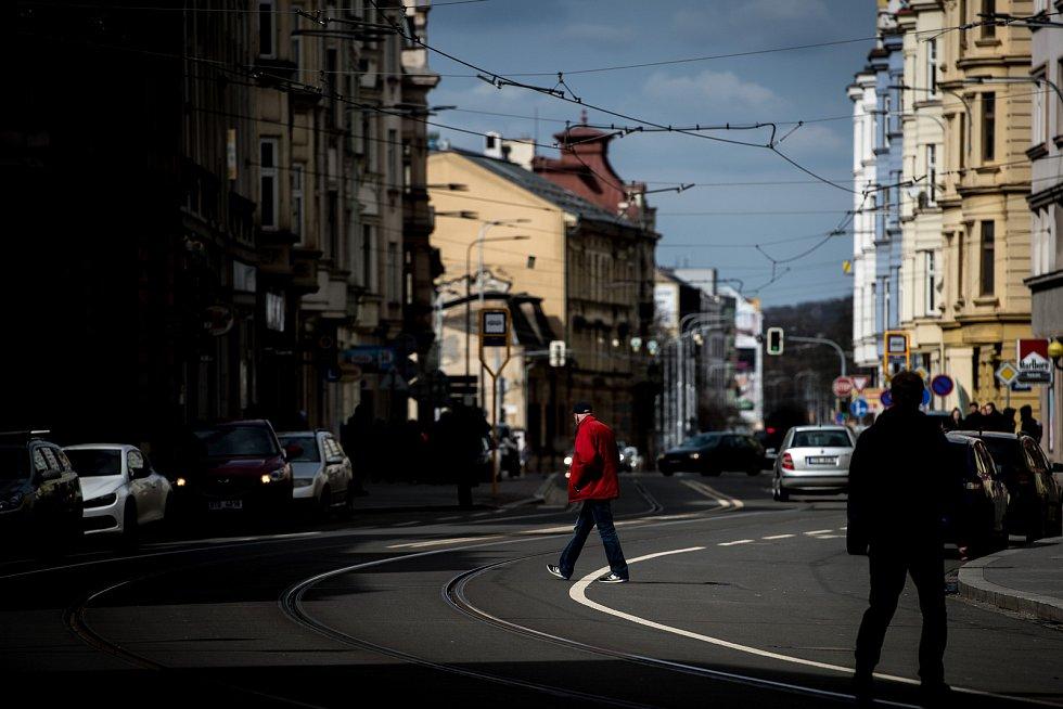 Nádražní ulice v Ostravě, březen 2019. Ilustrační foto.