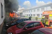 Zásah hasičů byl rychlý. Foto: HZS MSK