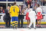 Mistrovství světa hokejistů do 20 let, zápas o 3. místo: Švédsko - Finsko, 5. ledna 2020 v Ostravě.
