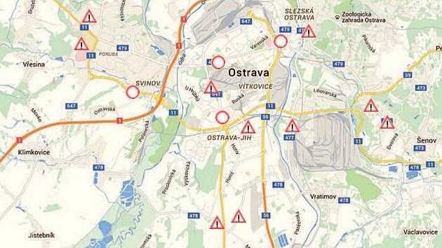 Uzavírky v Ostravě. Ilustrační snímek.