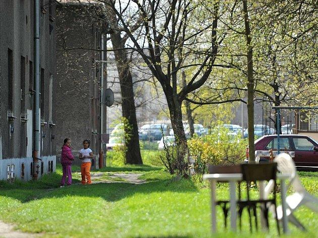 Osada Červený kříž v Ostravě-Mariánských Horách.
