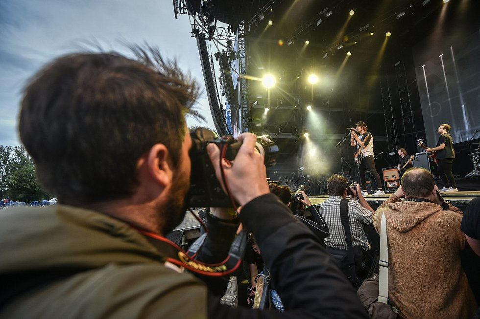 Hudební festival Colours of Ostrava 2018 v Dolní oblasti Vítkovice, 19. července 2018 v Ostravě. Na snímku Kensington.