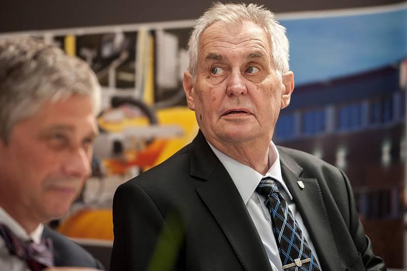 Miloš Zeman, 6. září 2017 společnost Temex Ostrava.