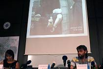 Z tiskové konference k zadržení vítkovských žhářů.