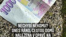 Tomáš Petreček našel tisícovku a hledal majitele.