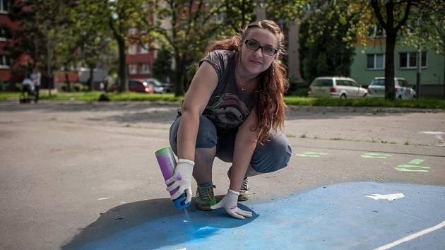 """Tereza Vašnovská na """"svém"""" hřišti U Dvoru v Ostravě-Mariánských Horách."""