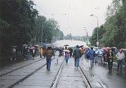Rozvodněná Odra zalila křižovatku u novoveské vodárny a přerušila tak tramvajové spojení s Porubou. Dopravu zajišťovaly autobusy.