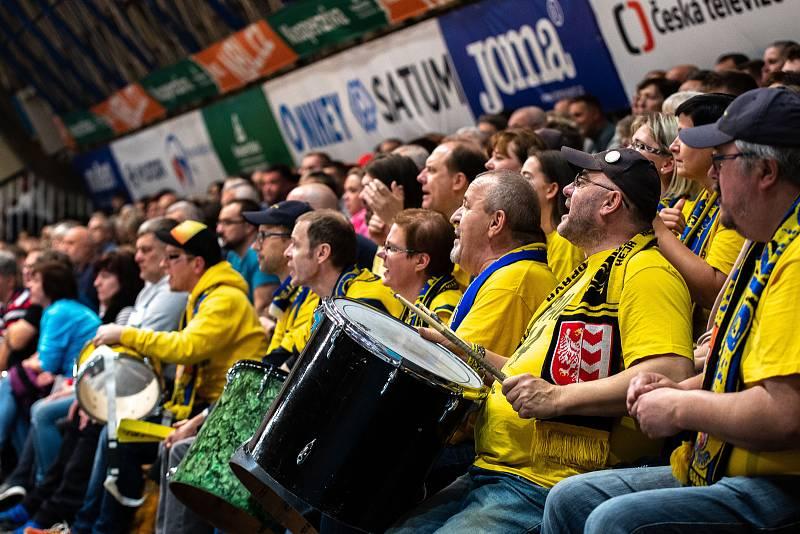Utkání KNBL, NH Ostrava - BK Opava. 2.listopadu 2019 v Ostravě.