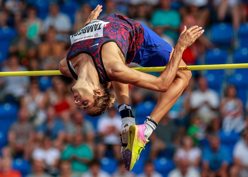 56. ročník atletického mítinku Zlatá tretra, který se konal 28. června 2017 v Ostravě. Na snímku Gianmarco Tamberi.