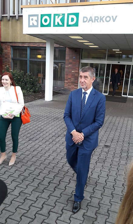 Andrej Babiš po jednání na OKD, 24. dubna 2018