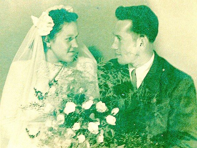 Svatební foto manželů Langových