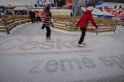 Olympijský festival u Ostravar Arény, 15. února 2018 v Ostravě. Bruslení.