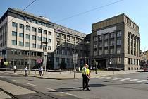 Ranní policejní manévry u České národní banky