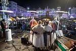 Česko zpívá koledy na Masarykově náměstí, 11. prosince 2019 v Ostravě.