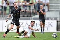 Utkání 2. kola první fotbalové ligy: MFK Karviná - Baník Ostrava, 22. července 2019 v Karviné. Na snímku (zleva) Jiří Fleišman a Petr Galuška.