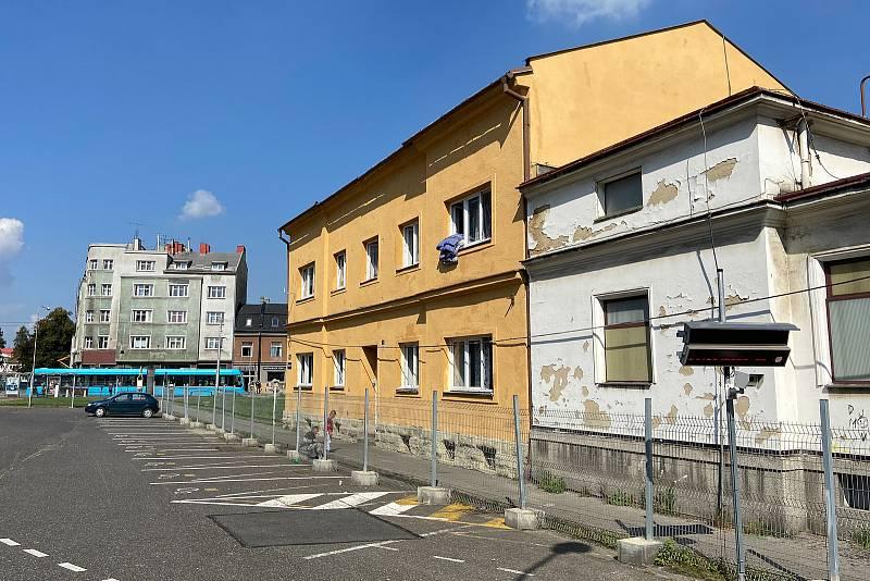 Ubytovna v Mariánských horách na ulici Jablonského 196, září 2021 v Ostravě.