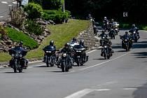 Motorkářská vyjížďka z Harley-Davidson Ostrava, 13. června 2020 v Ostravě.