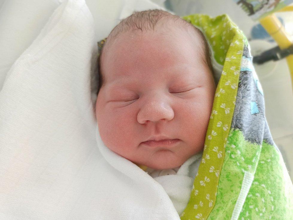 Jan Koziel, Třinec, narozen 12. května 2021, míra 51 cm, váha 3930 g Foto: Gabriela Hýblová