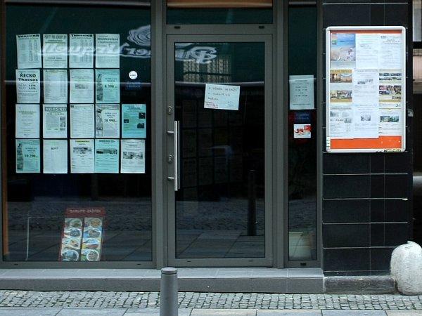 Snímek zavřené cestovní kanceláře