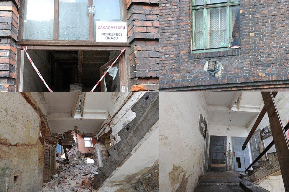 Výstražné pásky a cedule v Přednádraží informují o zákazu vstupu do ghetta.
