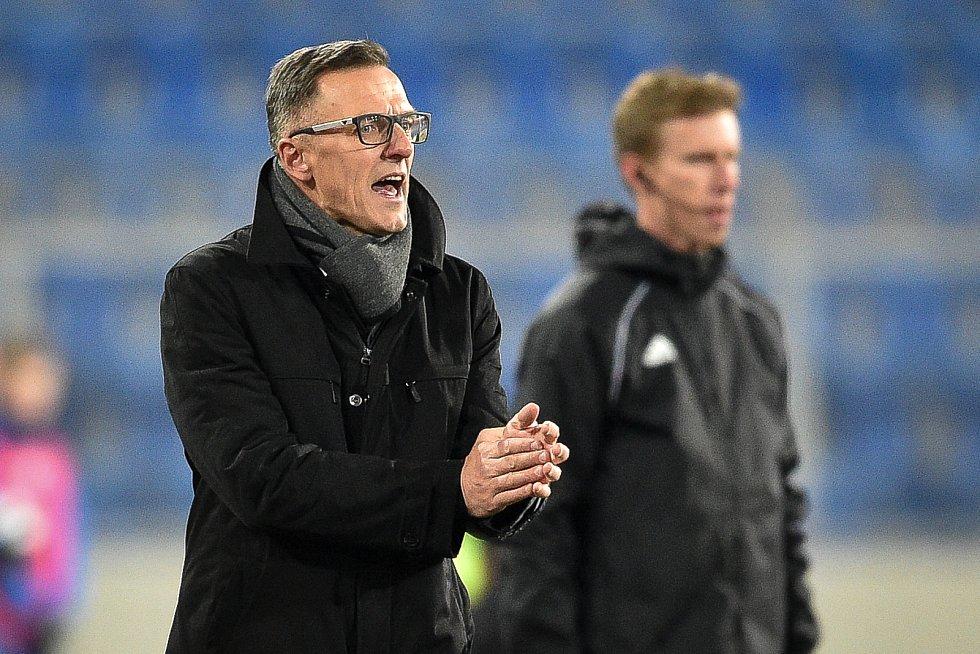 Utkání 22. kola první fotbalové ligy: Baník Ostrava - FK Jablonec, 24. února 2020 v Ostravě. Trenér Baníku Luboš Kozel.