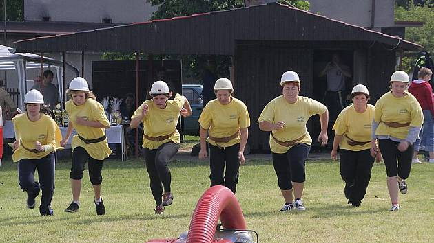 Hasičských soutěží se pravidelně účastní i václavovické družstvo žen.