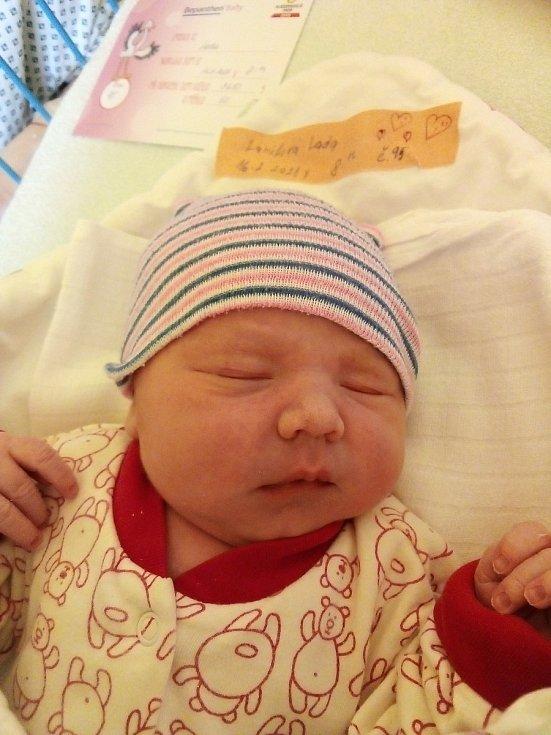 Lada Larišová z Rýmařova, narozena 16. února 2021 v Krnově, míra 50 cm, váha 3650 g. Foto: Pavla Hrabovská