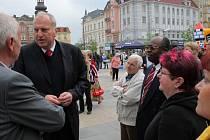 Volební mítink ODS na Masarykově náměstí v Ostravě