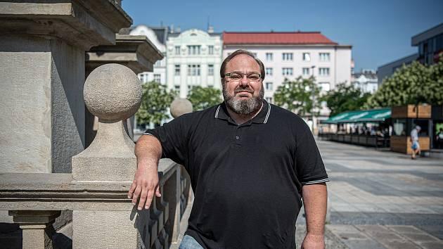 Politik Miroslav Novák při focení pro Deník, srpen 2020 v Ostravě.