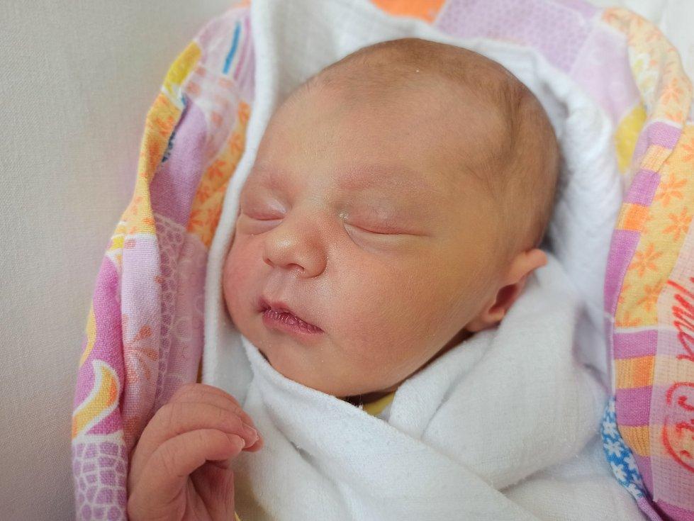 Anna Sztefek, Bystřice, narozena 9. července 2021, míra 50 cm, váha 3440 g Foto: Gabriela Hýblová