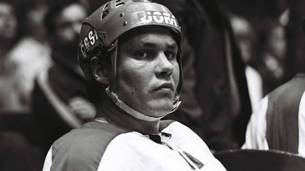 František Černík v době, kdy patřil nejen k oporám hokejových Vítkovic, ale i reprezentace.