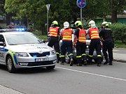 Srážka tří aut ve Výstavní ulici v Ostravě-Mariánských Horách.